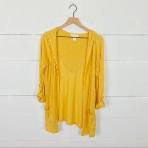 Cynthia Rowley Linen Blend Hooded Cardigan Size M